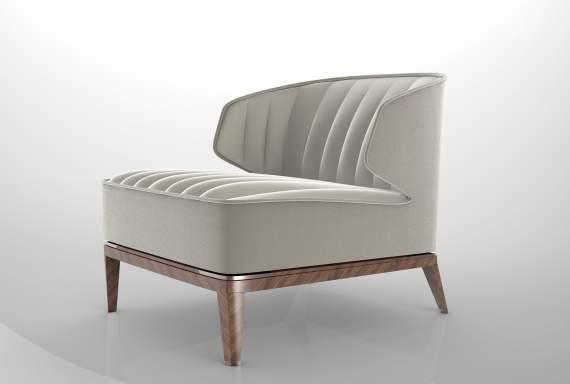 La Conca Blondie Armchair - Luxury Italian furniture designer Visionnaire