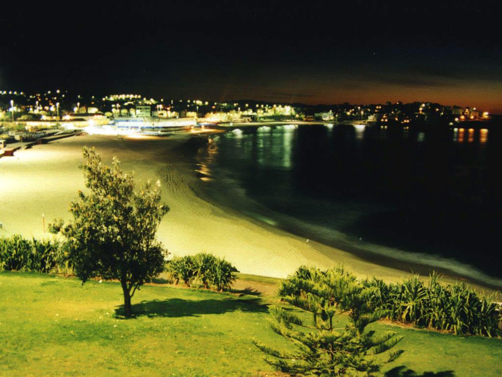 Bondi Beach at night