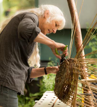 Janet basket making