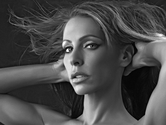 Black and white Boudoir Woman Photographer boca raton