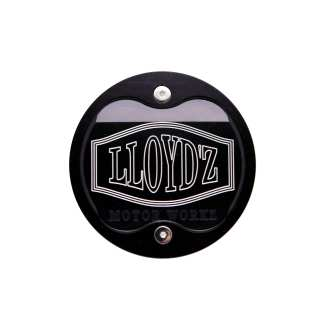 LLOYD'Z Cam Chain Cover - Black W/Contrast-Cut Finish