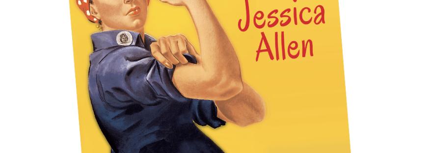 Rosie the Riveter Baby Shower Invitation