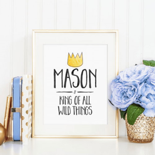 King of All Wild Things – Custom Where the Wild Things Are Print