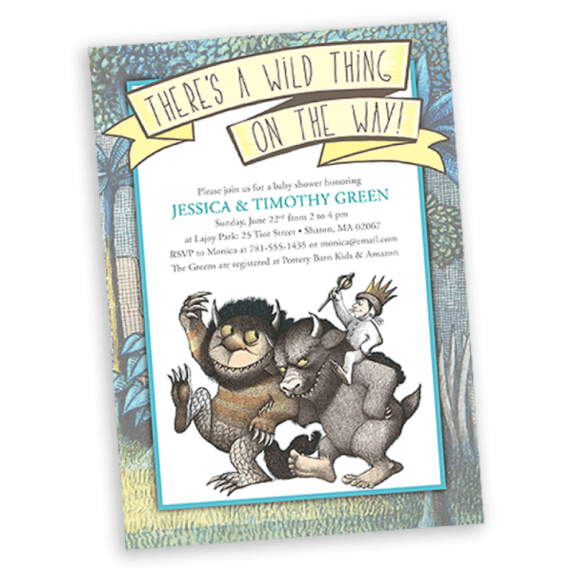 Where the Wild Things Are Baby Shower Invitaiton