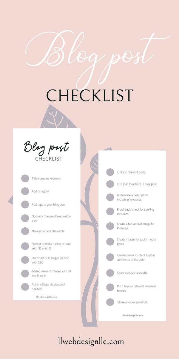 blog post checklist graphic