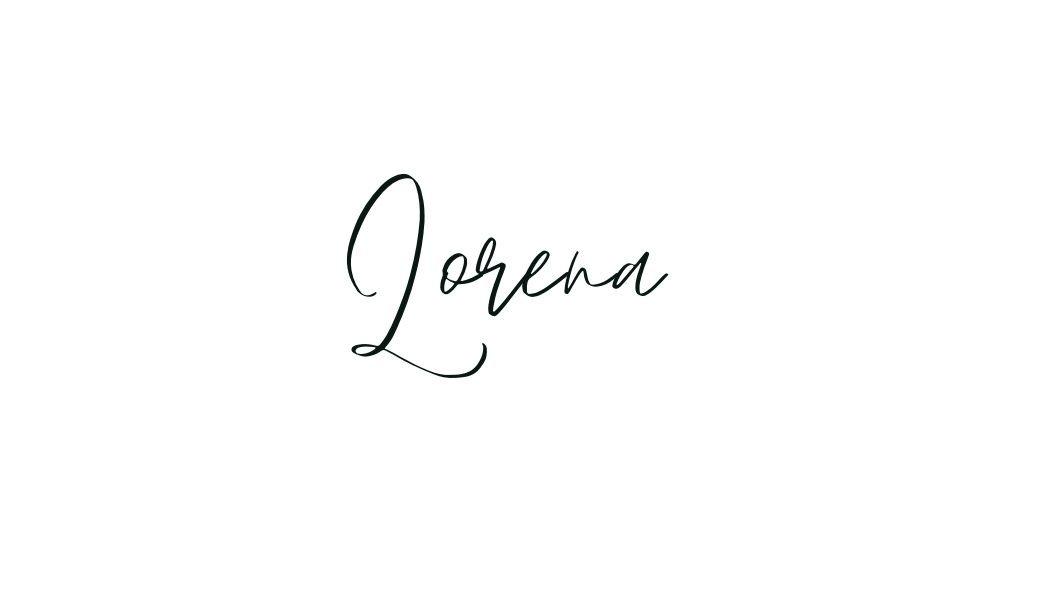 Lorena's signature