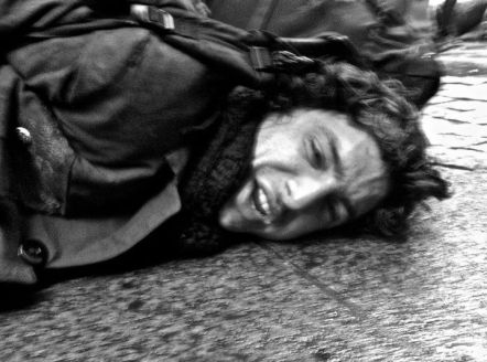 Occupy Wall Street man on ground being arrested 03
