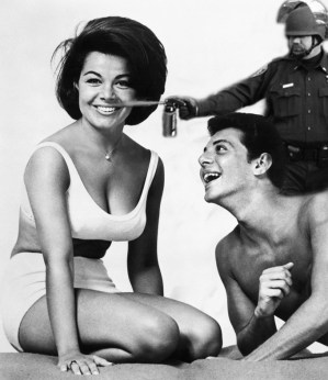 Lt John Pike pepper spraying cop and Annette Funicello Frankie Avalon
