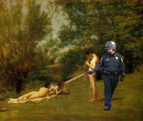 4 Lt John Pike pepper spraying Eakins' Arcadia