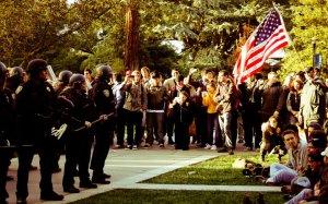 Occupy protest pepper spray at UC Davis CA November 17 2011