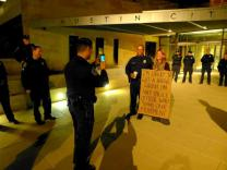 Photo Occupy Austin I'm likely to get a huge crush on any police officer who joins our movement