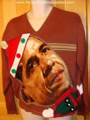 Obama in Santa Cap