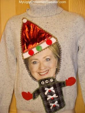 Hillary Clinton in Santa Cap