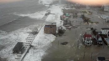 This photo provided by 6abc Action News shows the Inlet section of Atlantic City, N.J., as Hurricane Sandy makes it approach, Monday Oct. 29, 2012. (AP)