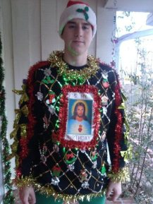 VERY ugly Christmas sweater.