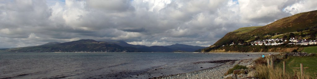 View from the beach to Barmouth
