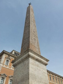 Called the Lateran obelisk, this is the oldest in Rome. Originally erected by Thutmose IV at the Temple of Amun at Karnak in the 15th c. BC. Constantine had the obelisk moved as far as Alexandria where he abandoned it. His son, Constantius II brought to Rome from Alexandria in 357 to decorate the Circus Maximus. It was found there in 3 pieces in 1587. At 31 m high it is the tallest obelisk in existence