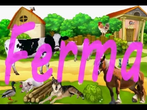 Cartoon and funny farm animals or as they say