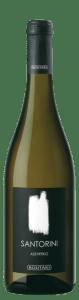 Santorini Boutari 2016 Assyrtiko white wine is grown on the Greek island of Santorini.