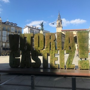 The Plaza de Virgen Blanca is located in the heart of Vitoria-Gasteiz, the capital of the Basque Country.