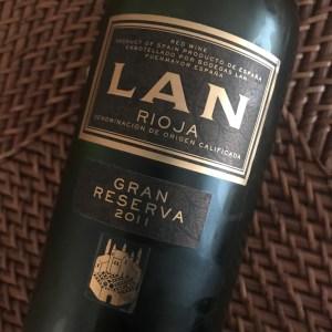 LAN Gran Reserva 2011 Rioja wine.