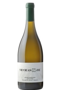 Domaine Nicolas-Jay Affinités Chardonnay is produced in Oregon's Willamette Valley.