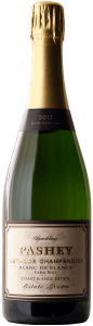 Pashey Sparkling Blanc de Blancs is made from 100% chardonnay sourced from Trisaetum's Coast Range Estate.