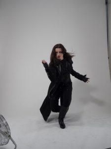 Bethany Anne coat twirl