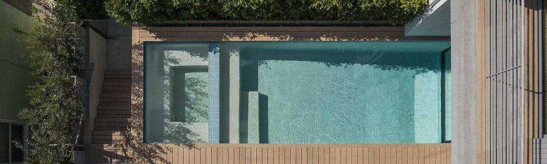 Press & Awards - aerial view swimming pool - LMD Architecture Studio