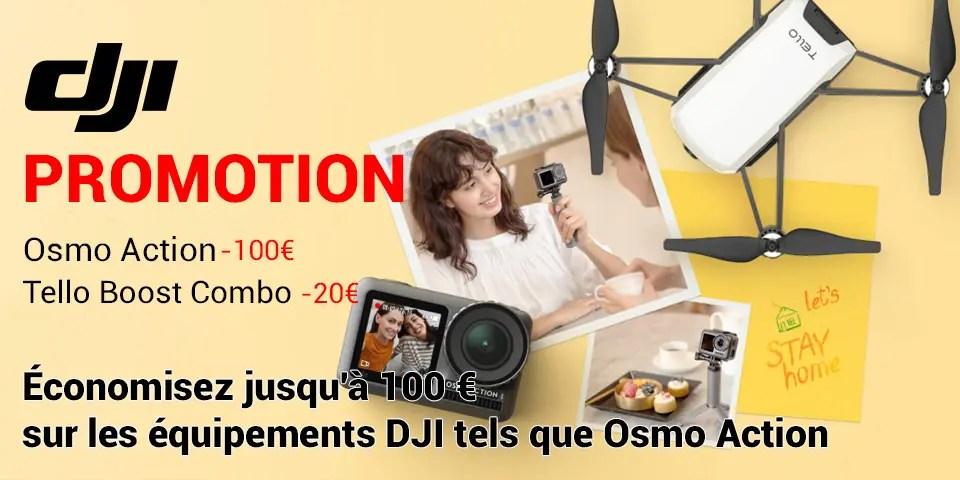 DJI promotion Osmo Action Tello