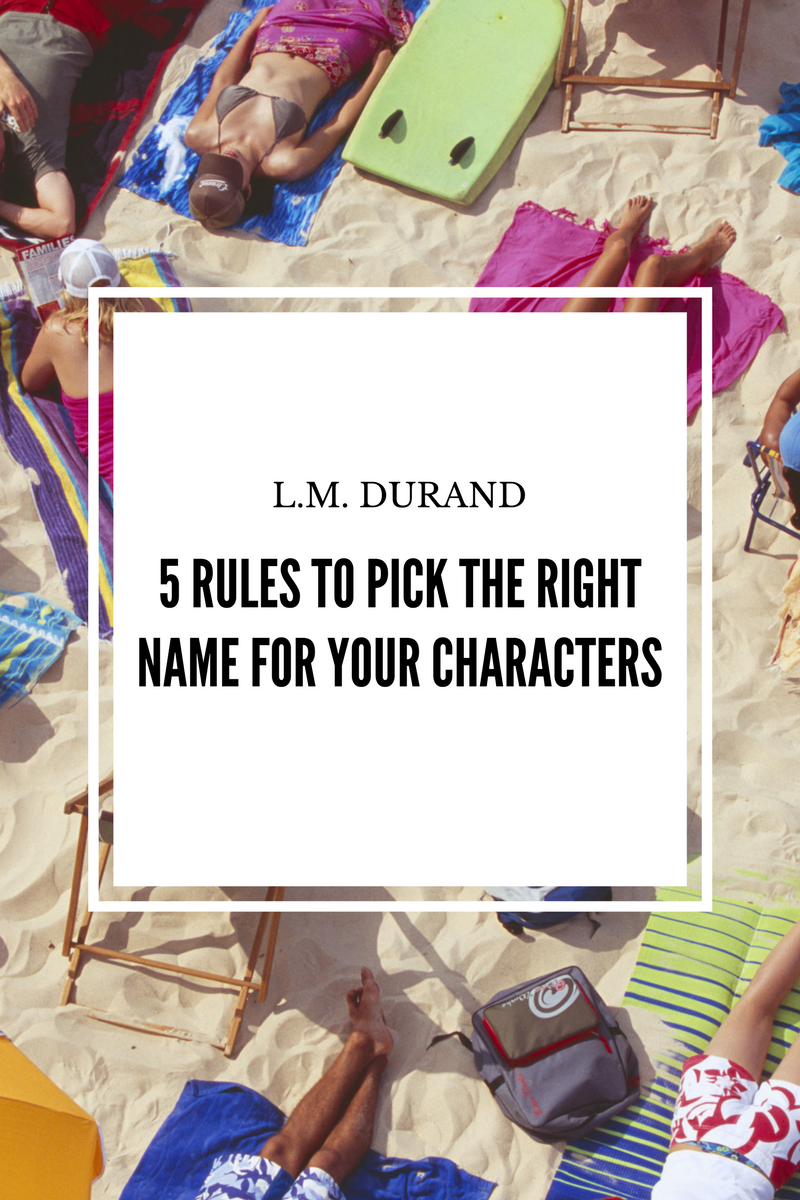 5 Rules to Pick the Right Name for Your Characters