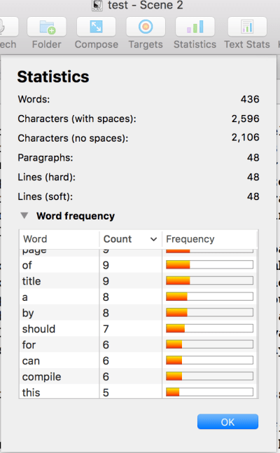 editing with scrivener