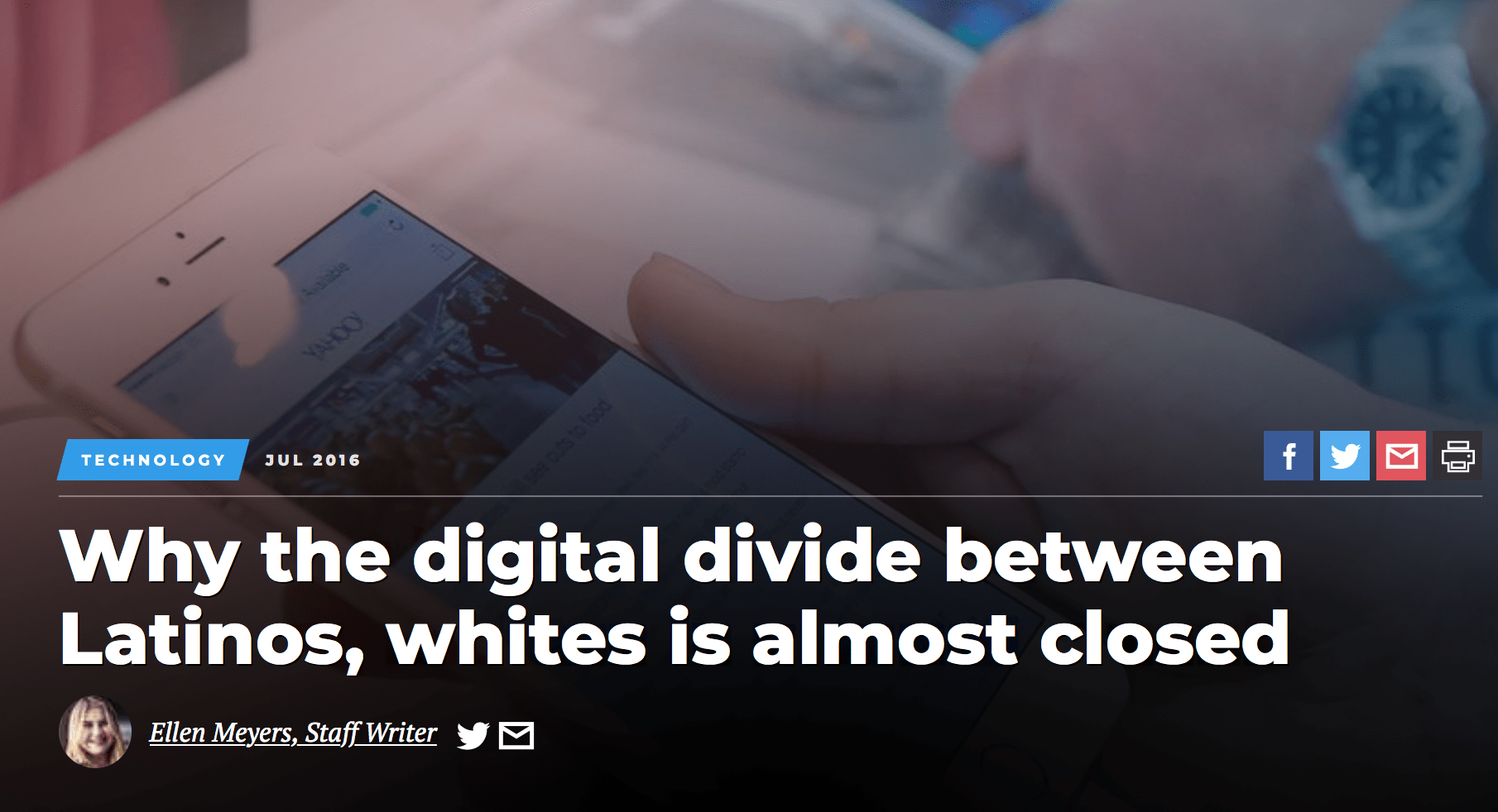 Why the digital divide between Latinos, whites is almost closed