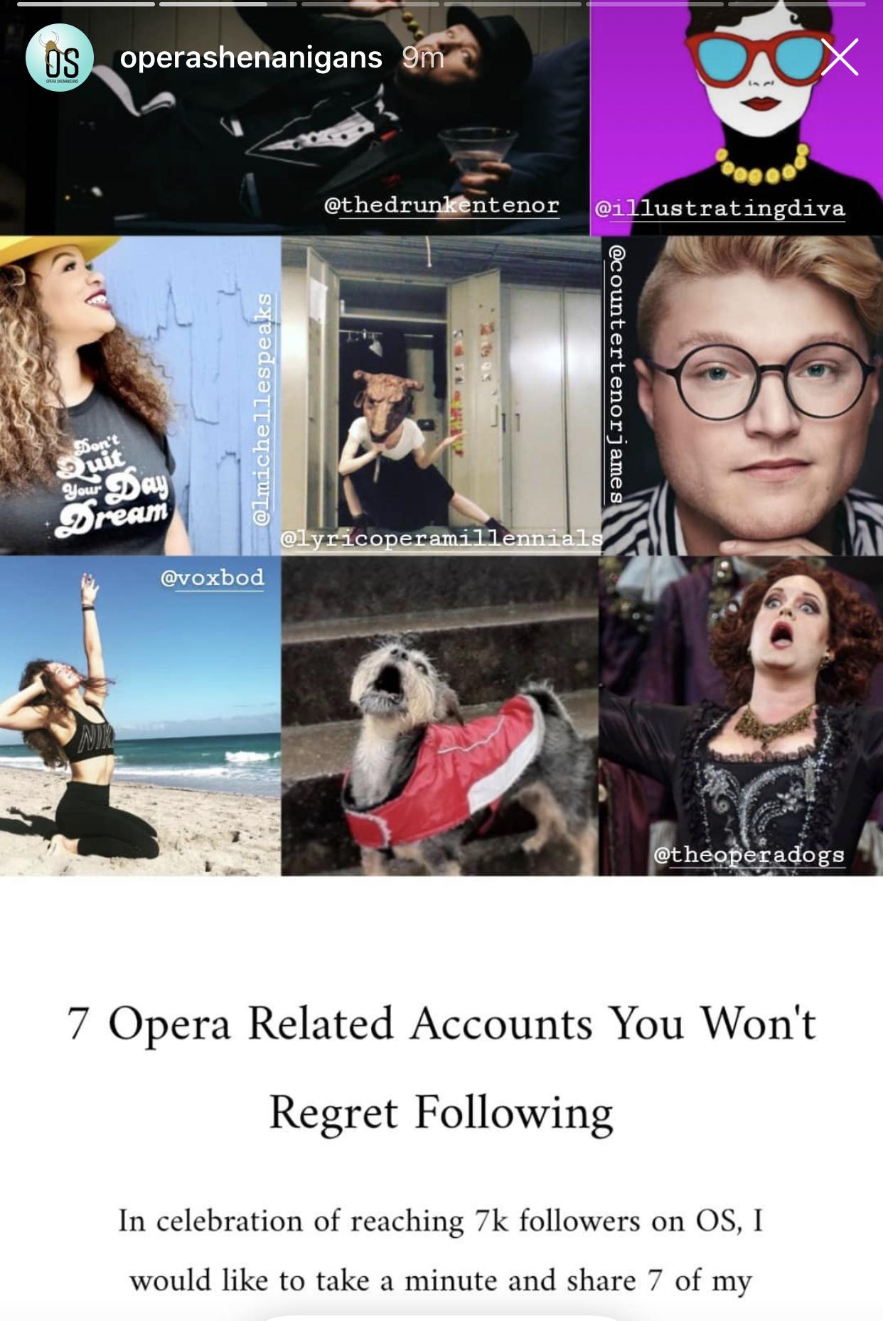 7 Opera Related (IG) Accounts You Won't Regret Following–Opera Shenanigans
