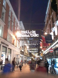 Grafton Street during the holidays