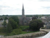 A view from the top of Trim Castle, Ireland.