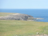 View from Hook Lighthouses' top viewing deck, Ireland.