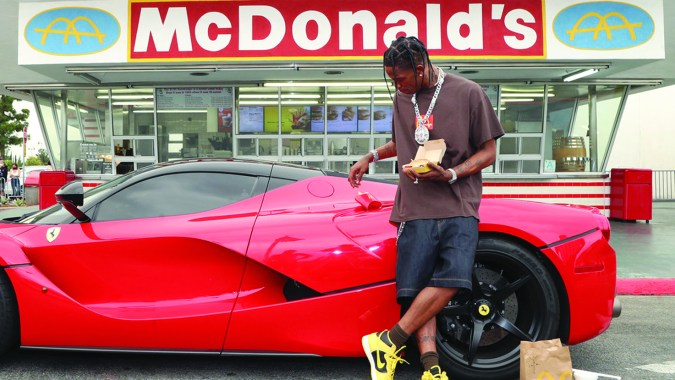 rapper travis scott mcdonald's, cactus jack burger