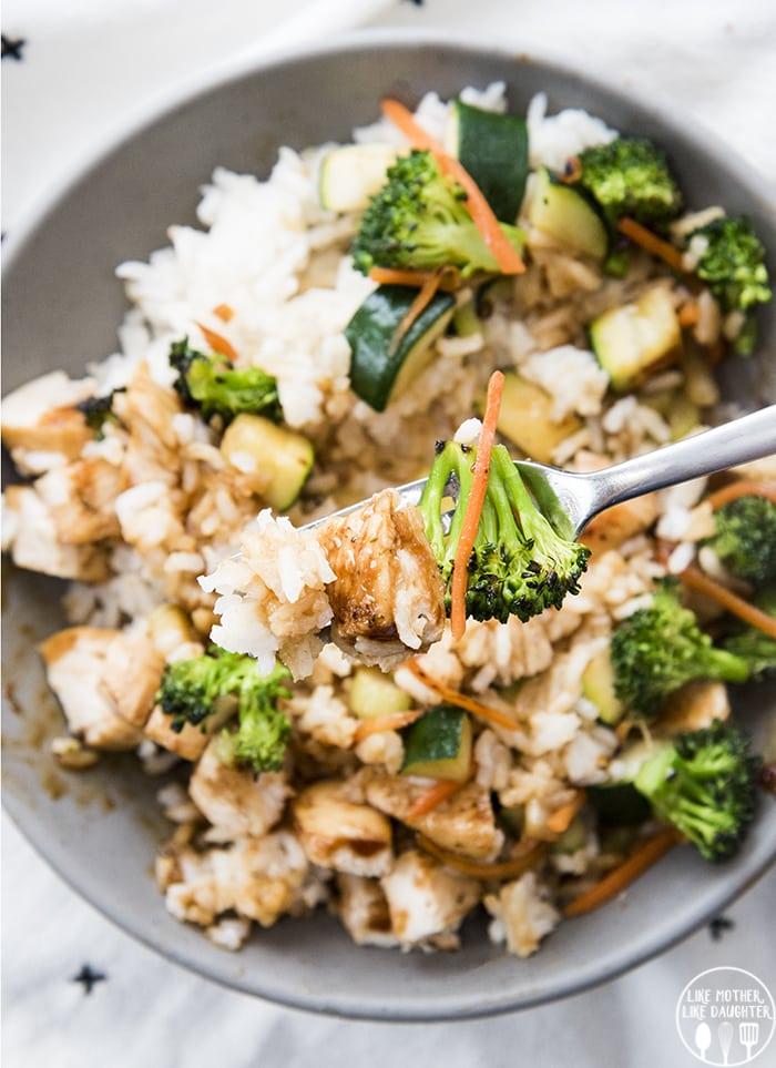 Teriyaki Chicken Bowls