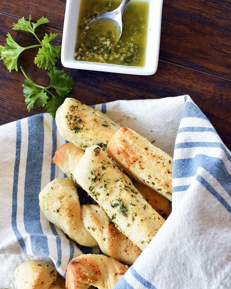 Garlic Bread Sticks are the perfect side dish