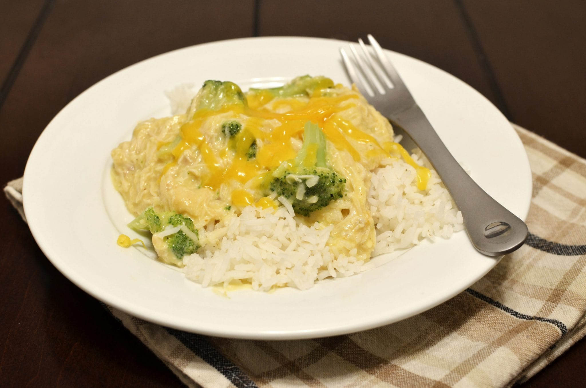 Creamy Chicken and Broccoli over Rice