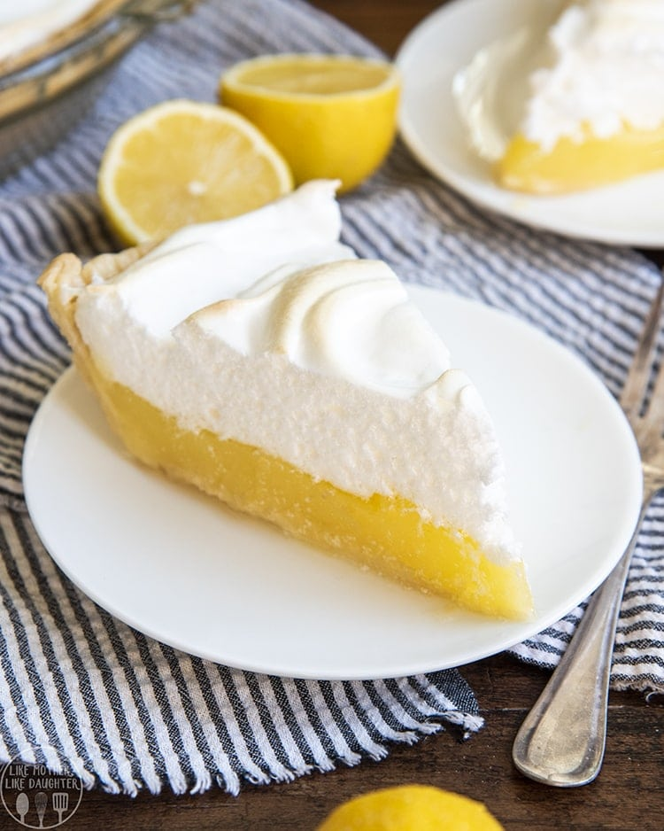 This Lemon meringue pie is the best with a sweet and tart lemon custard filling topped with the best fluffy lightly browned meringue.