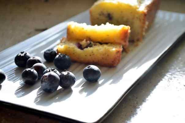 Blueberry Poppyseed Bread with Orange Glaze