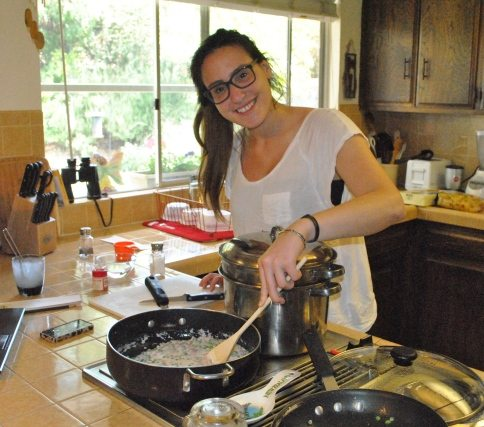 Marta cooking