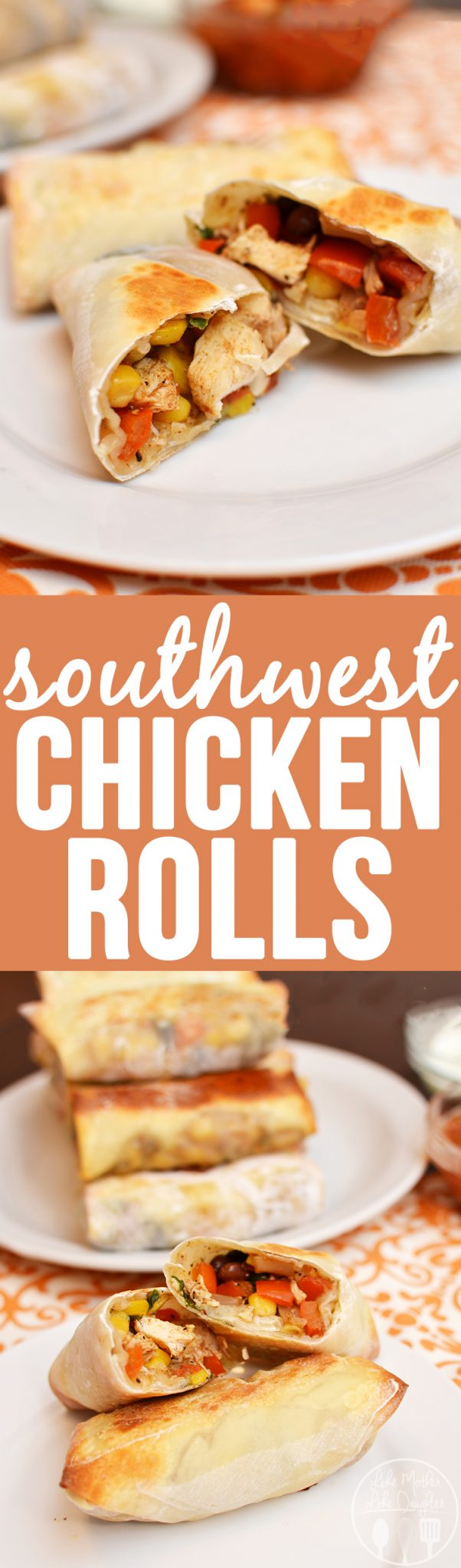 Southwest Chicken Rolls - These southwest chicken rolls are healthy, easy to make and so delicious! Perfect for an appetizer , side dish or main dish too!