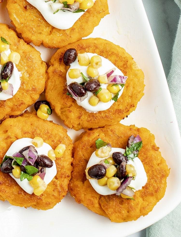 Make these sweet potato patties with leftover sweet potato