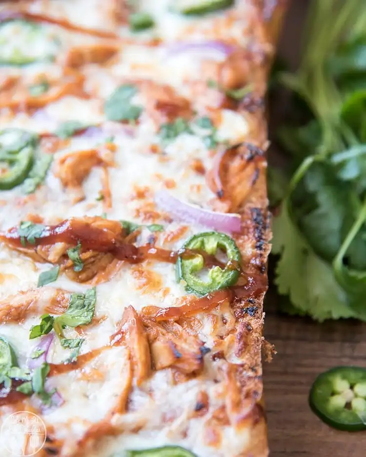 French Bread BBQ Chicken Pizza