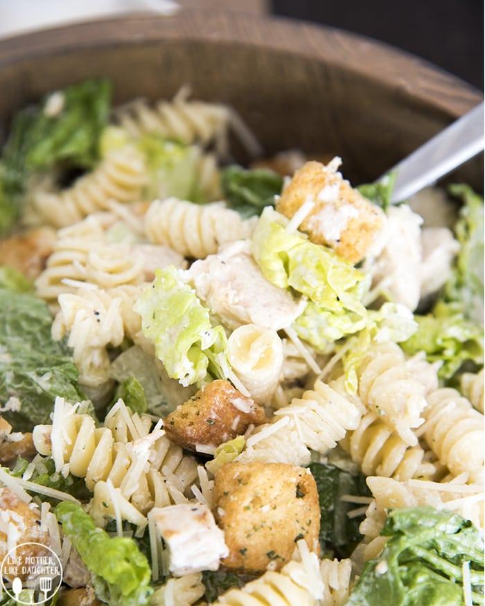 Chicken Caesar Pasta Salad!