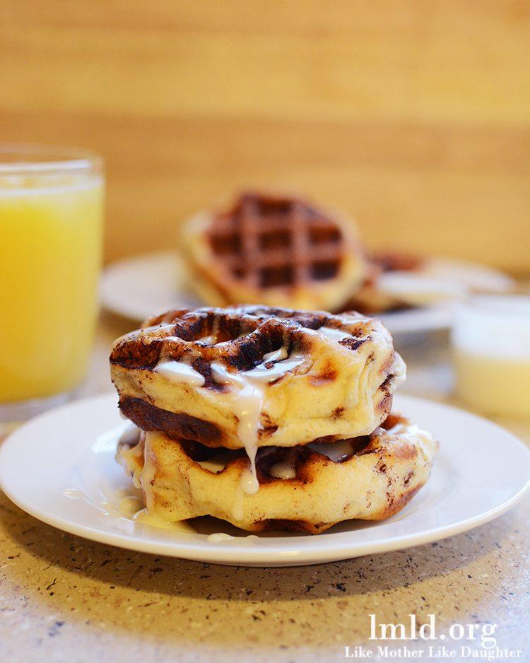 Easy Waffle Cinnamon Rolls