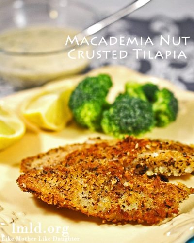 Macadamia Nut Crusted Tilapia